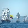 Guayas, Elcano y Cuauhtemoc navegando en Río de Janeiro